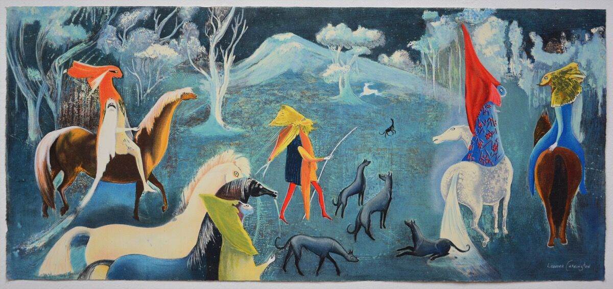 Leonora Carrington, Figuras fantásticas a caballo, 2011. © 2019 Estate of Leonora Carrington / Artists Rights Society (ARS), New York. Courtesy of La Siempre Habana.