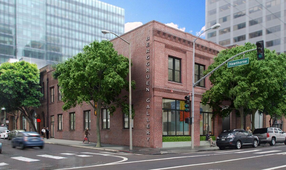 Rendering of new Berggruen Gallery designed by Jennifer Weiss Architecture. Courtesy of Berggruen Gallery.