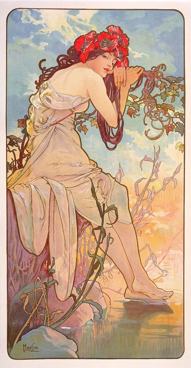 Alphonse Mucha,  Les Saisons: l'été , 1896. © Mucha Trust 2018.