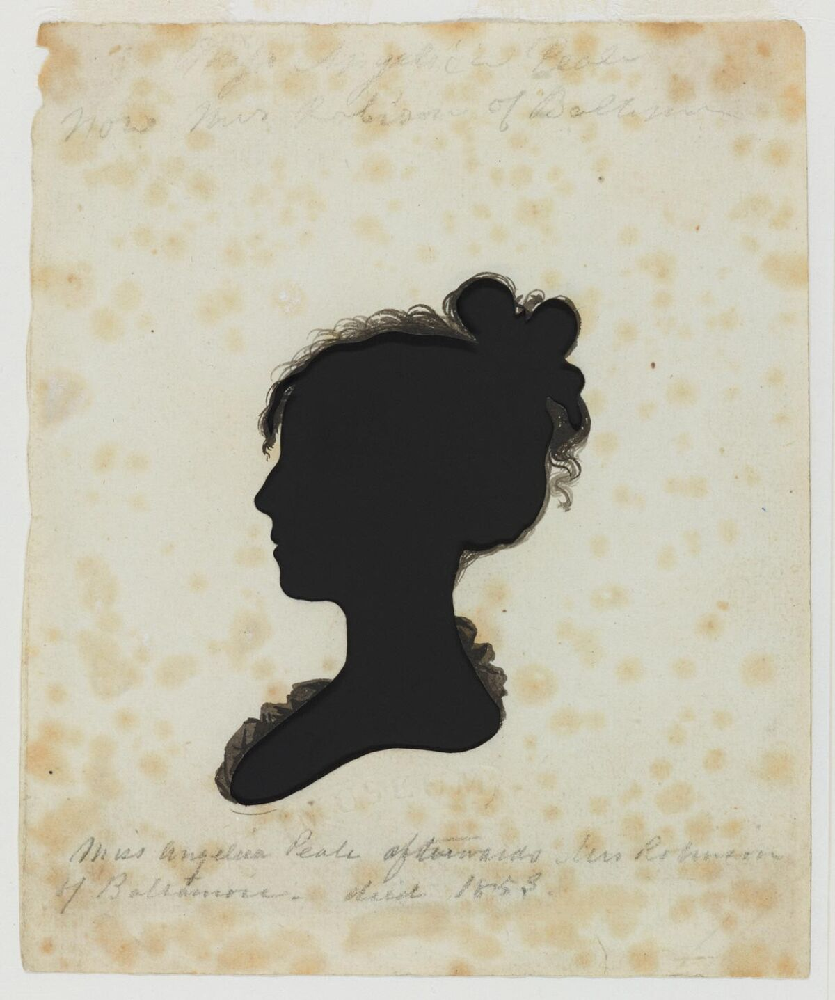 Moses Williams, Angelica Peale Robinson, After 1803. Gift of the McNeil Americana Collection, 2009. Courtesy of the Philadelphia Museum of Art.