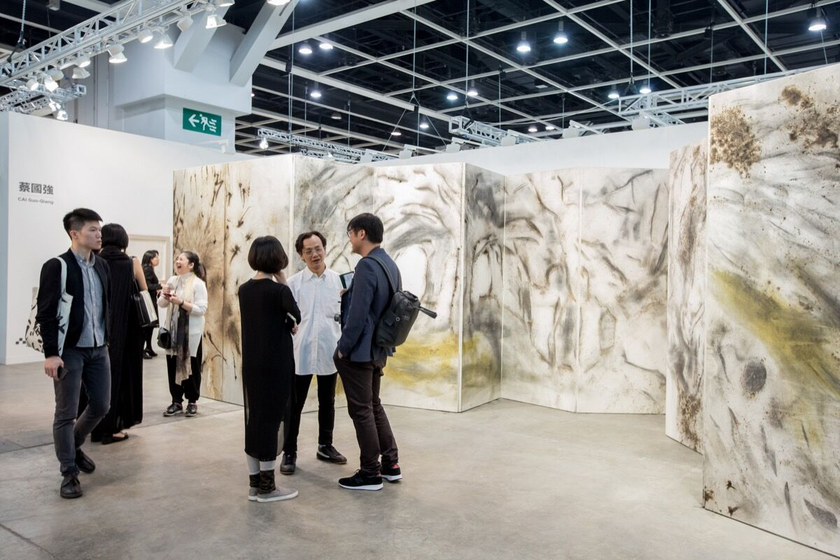 Installation view of Eslite's booth at Art Basel in Hong Kong, 2017. Courtesy of Art Basel.