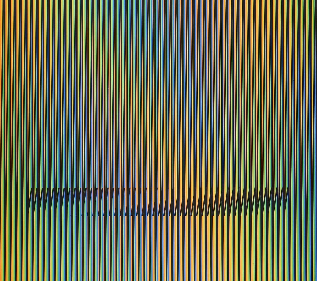 Carlos Cruz-Diez. Caura-1, 2015. Lithograph. 60 x 70 cm. Edition of 75. Courtesy of Polígrafa Obra Gráfica.