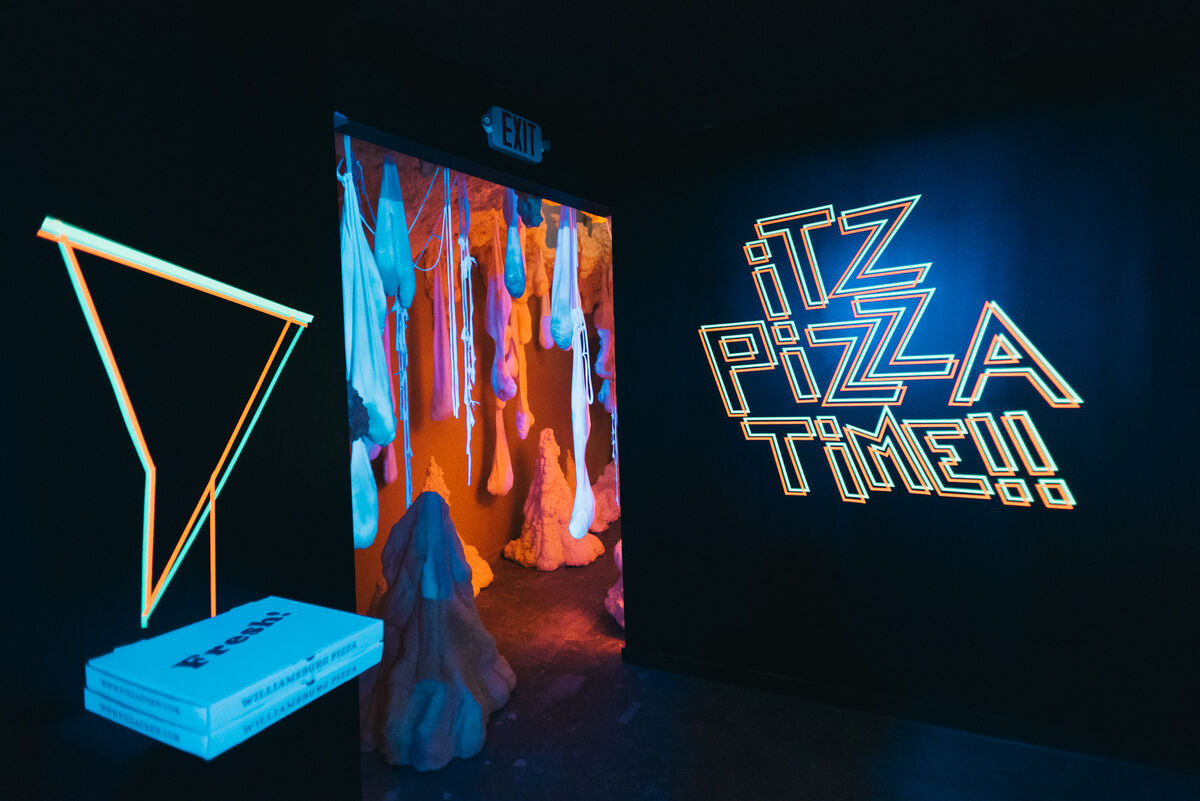Installation view of The Museum of Pizza. Photo by Ryan Muir. Courtesy of The Museum of Pizza.