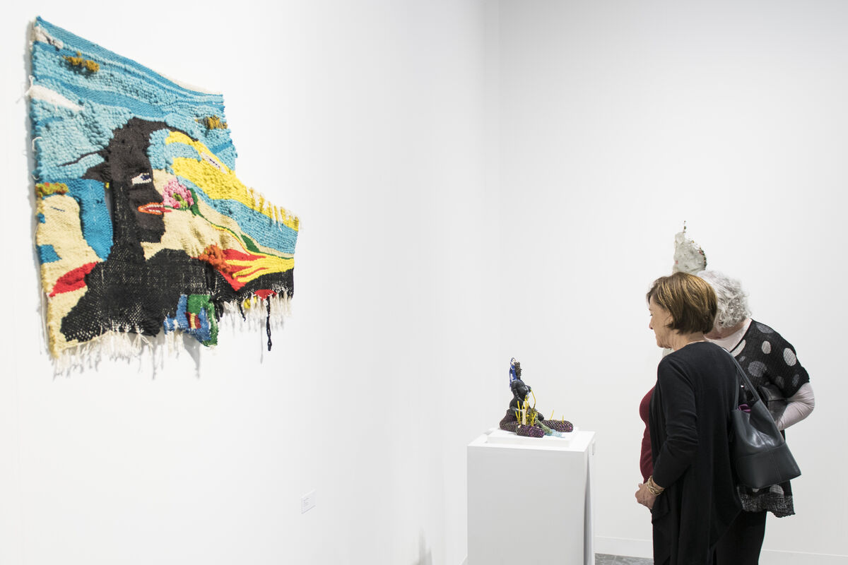 Installation view of Peter Blum Gallery's booth at Art Basel in Miami Beach, 2018. Courtesy of Art Basel.