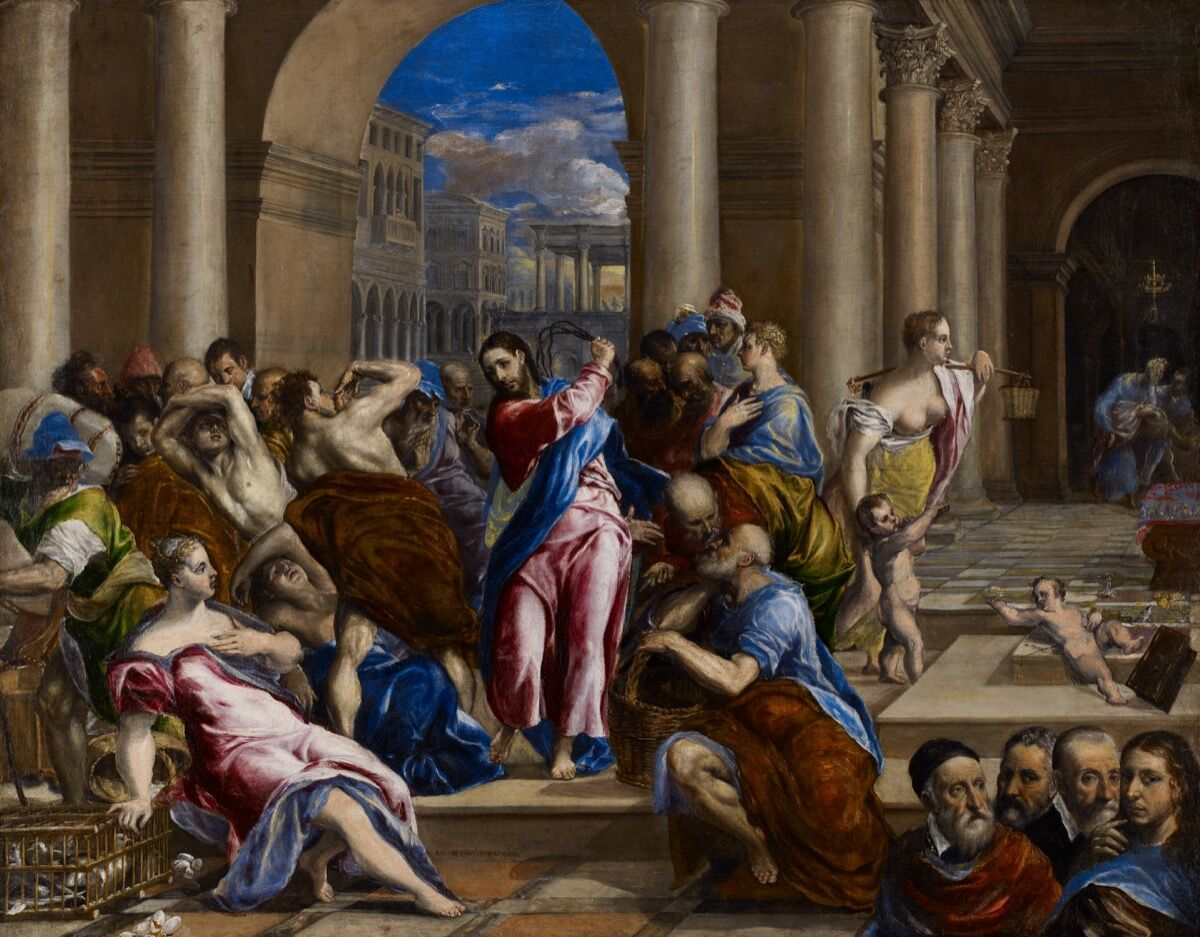 El Greco, Christ Driving the Money Changers from the Temple, c. 1570. Courtesy of the Minneapolis Institute of Art.