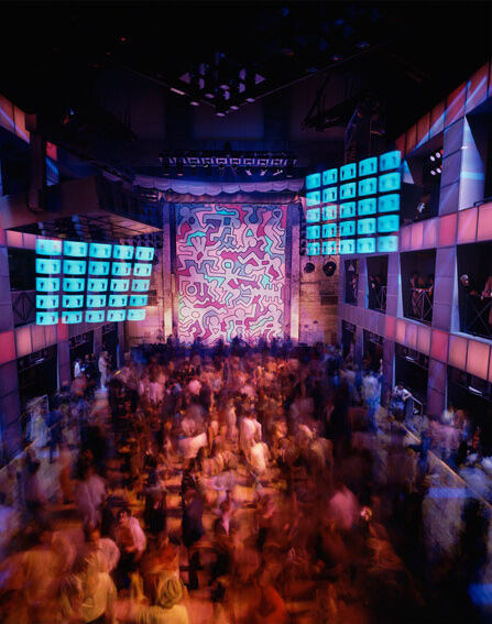 Mural by Keith Haring in the Palladium. Photo © Tim Hursley, courtesy of Garvey Simon Gallery.