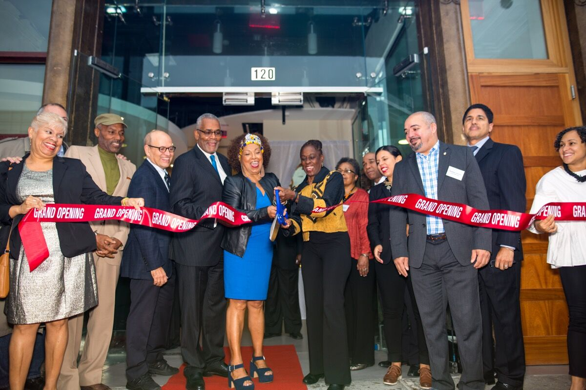 Ribbon-cutting of the new CCCADI home in Harlem. Image by Rex Desrosiers, courtesy of CCCADI.