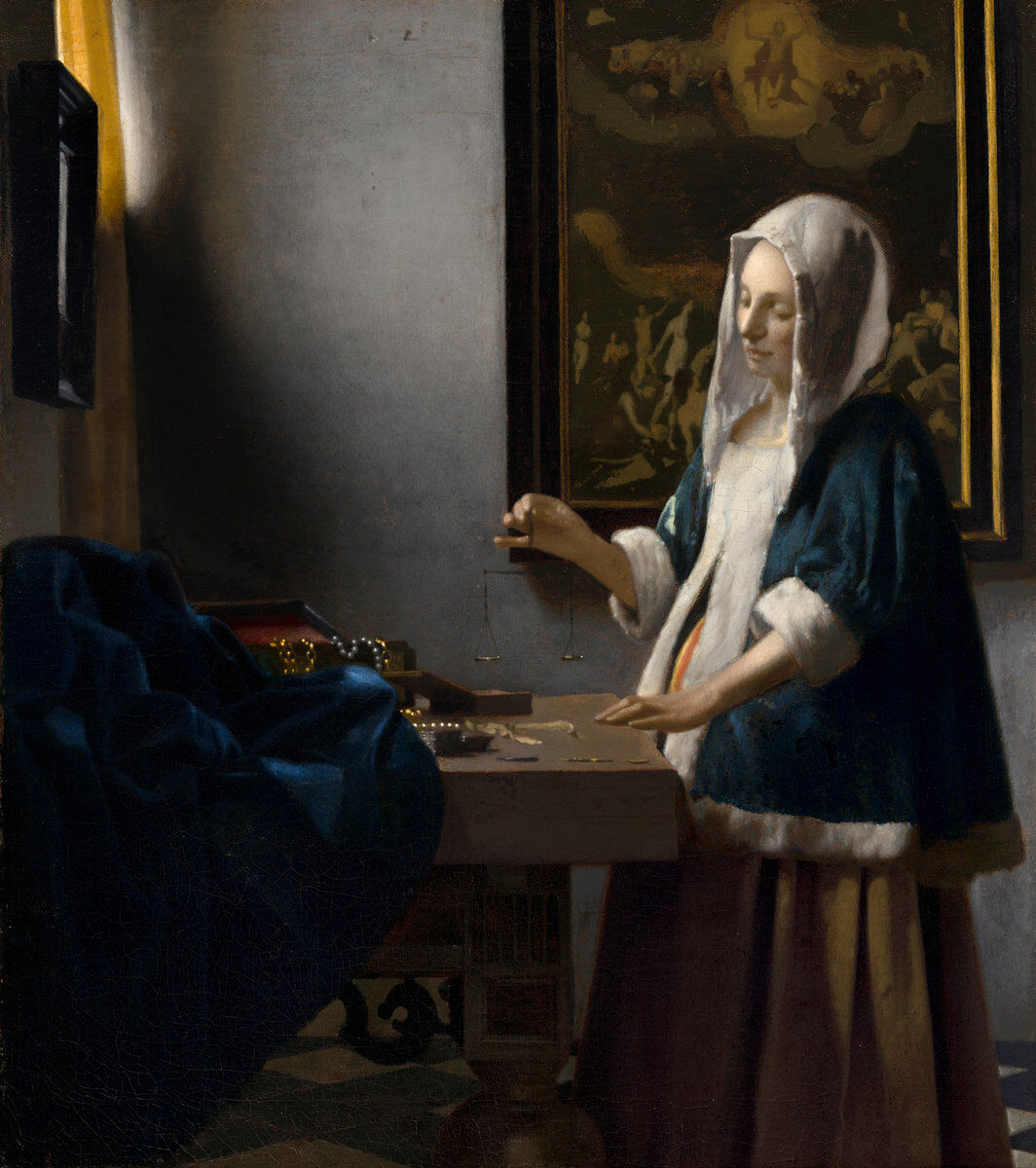 Johannes Vermeer, Woman Holding a Balance, c. 1664. Courtesy of the National Gallery of Art.