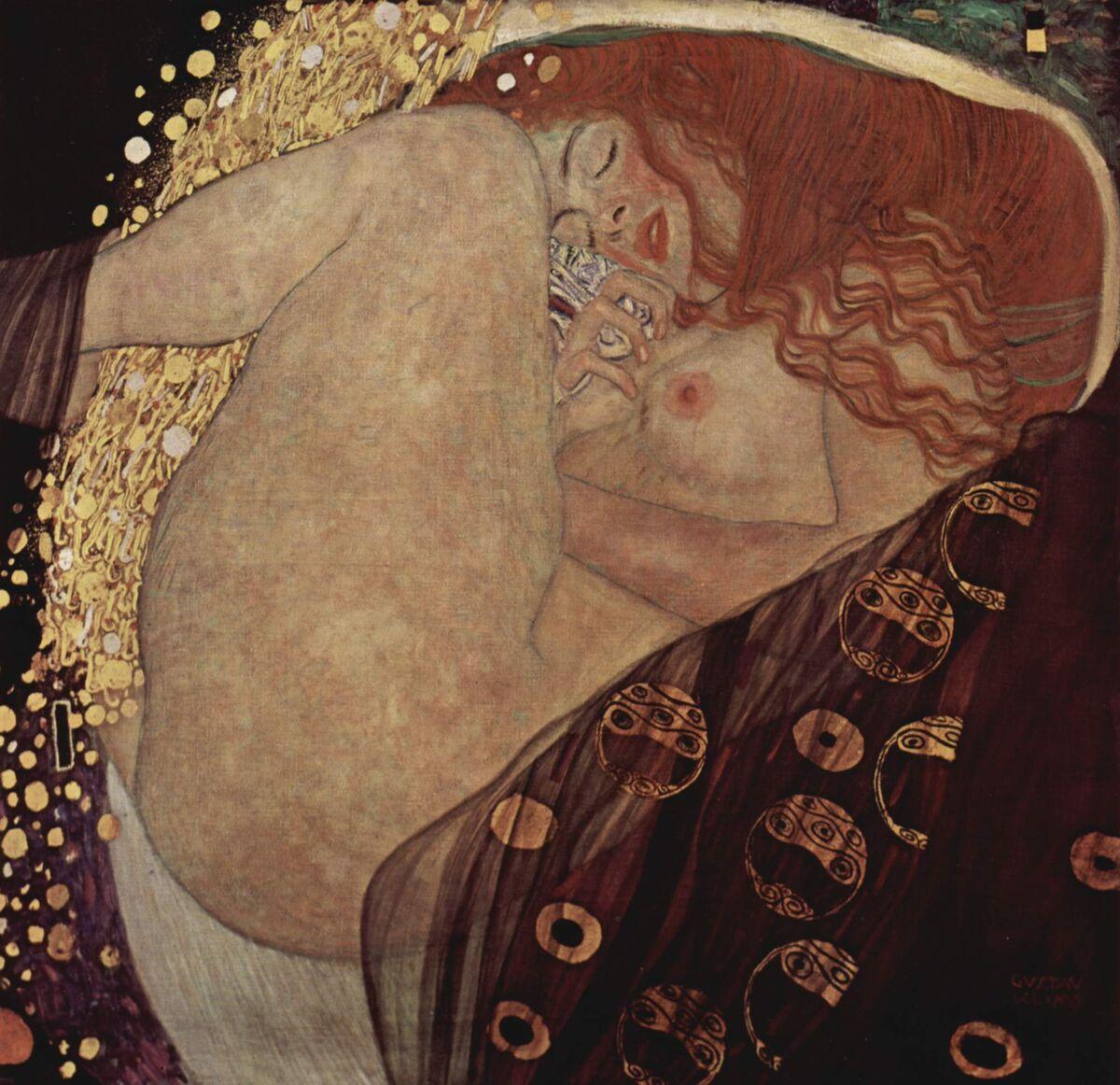 Gustav Klimt, Danae, 1907–08. Image via Wikimedia Commons.