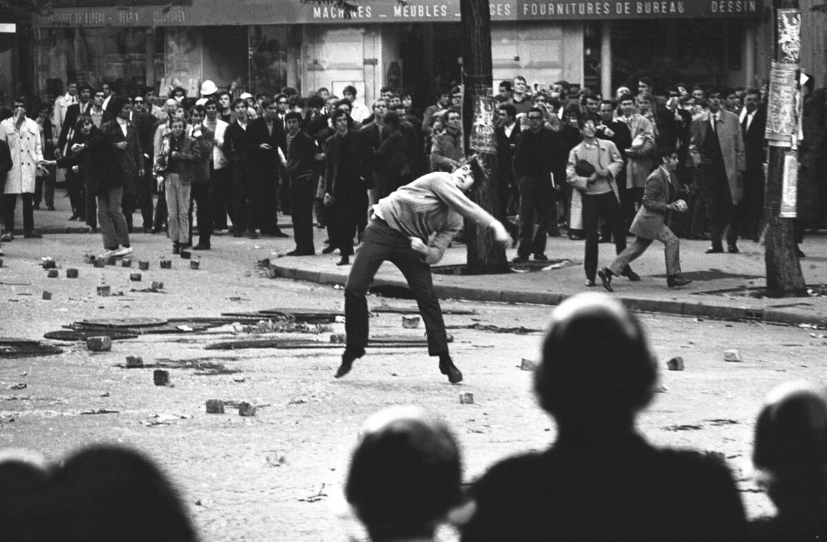 Student uprising in Paris, May 1968. Photo by Keystone-France/Gamma-Keystone via Getty Images.