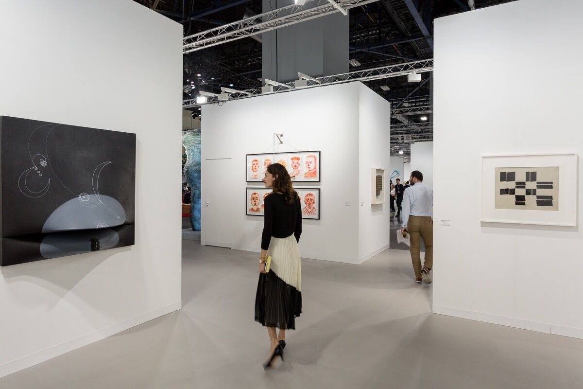 Installation view of Galerie Lelong's booth at Art Basel in Miami Beach, 2016. Photo by Alain Almiñana for Artsy.