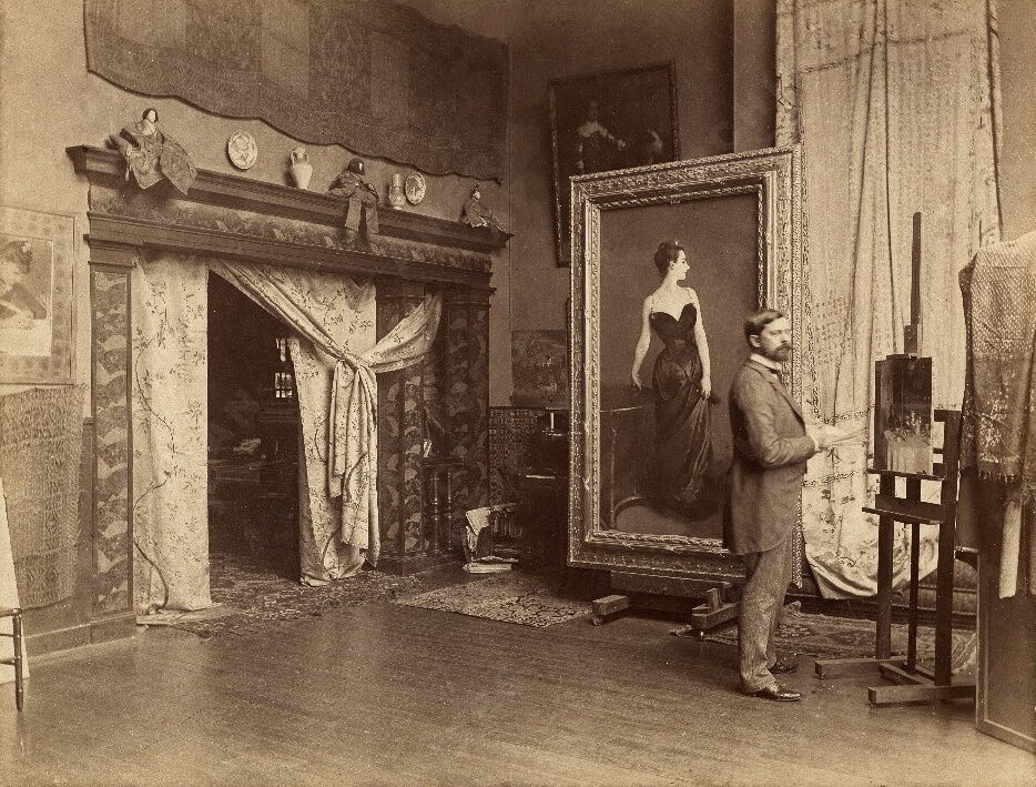 John Singer Sargent in his Paris studio, ca. 1883–4. Image via Wikimedia Commons.