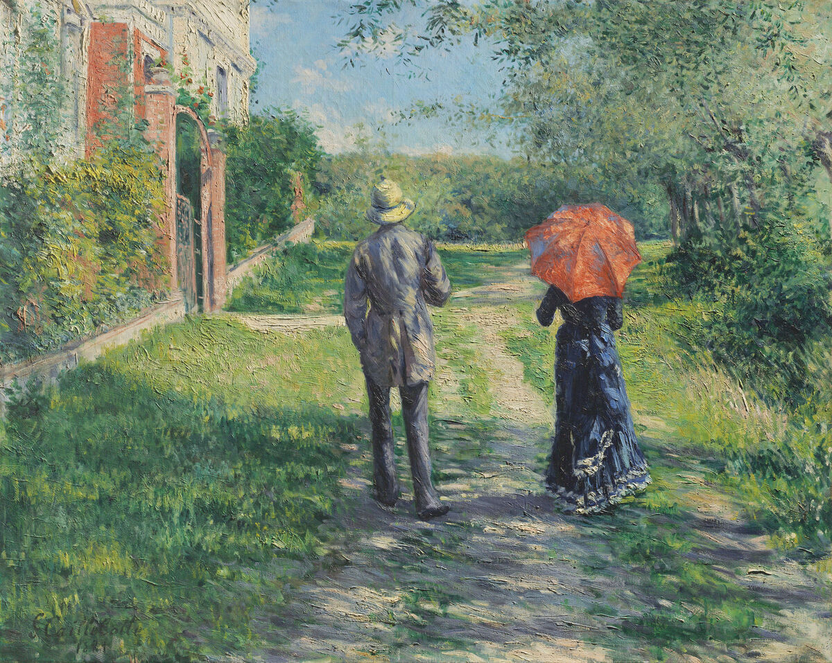 Gustave Caillebotte, Chemin montant, 1881. Courtesy of Christie's Images Ltd. 2019.