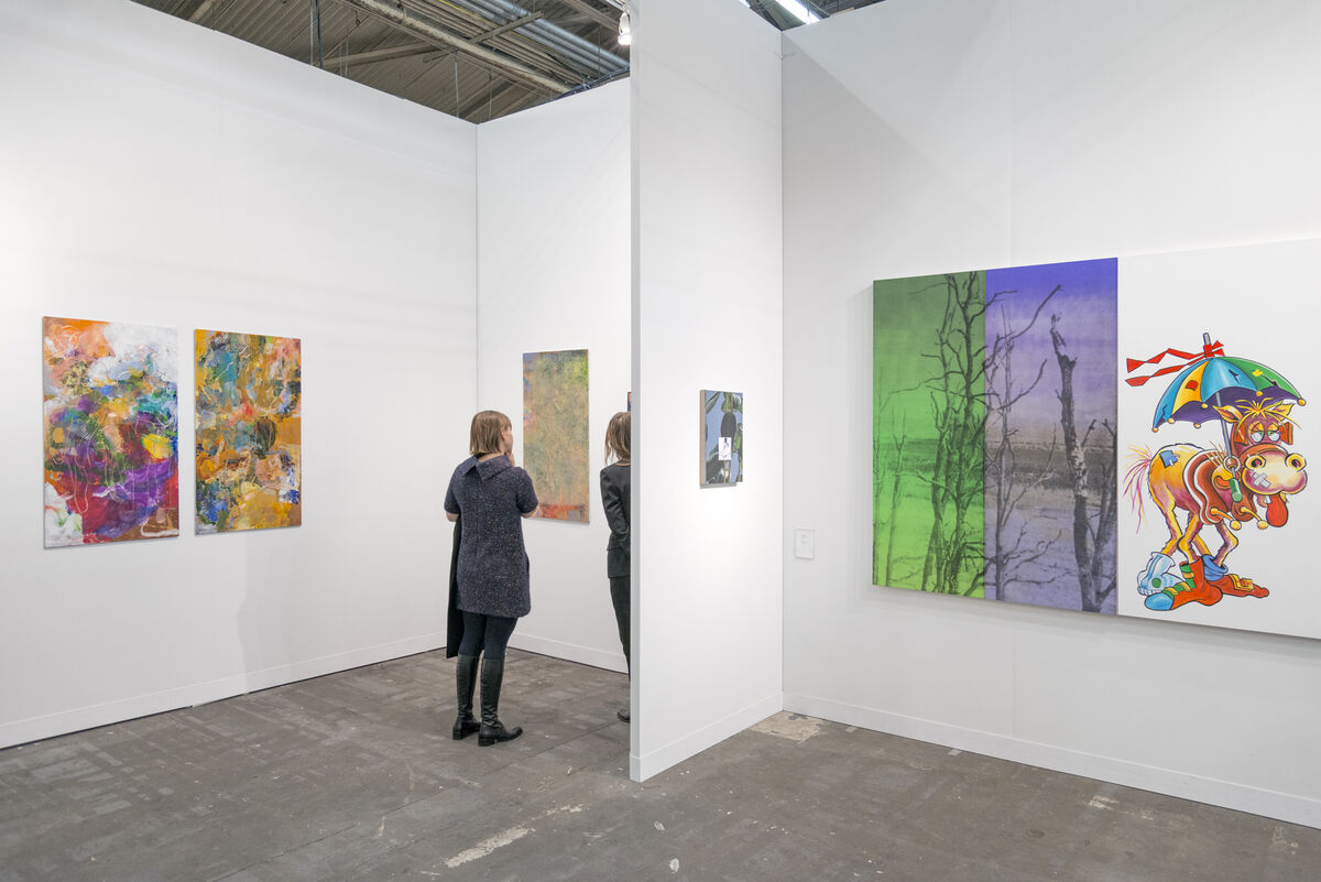 Installation view of Vilma Gold's booth at The Armory Show, 2016. Photo by Adam Reich for Artsy.