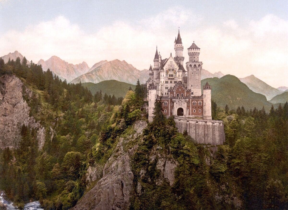 Neuschwanstein Castle, Germany. Photo via Wikimedia Commons.