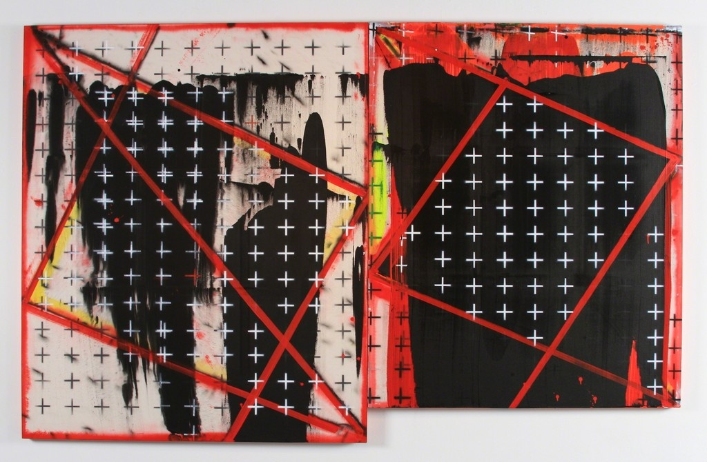 """Installation view of""""Ed Moses: Now and Then"""" courtesy ofWilliam Turner Gallery."""