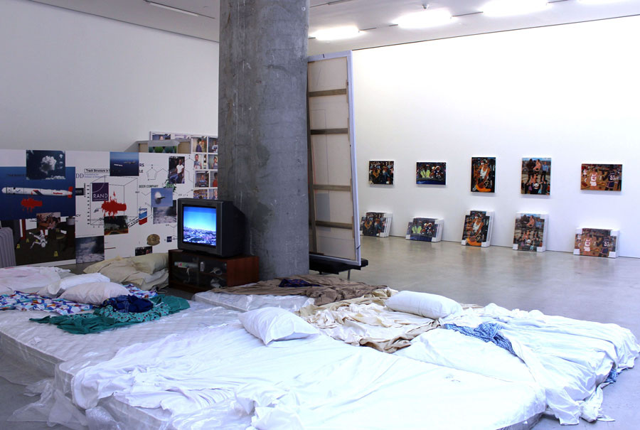 """Installation view of """"The Future Is Ow"""" at Marlborough Chelsea, New York. Courtesy of Marlborough Chelsea."""