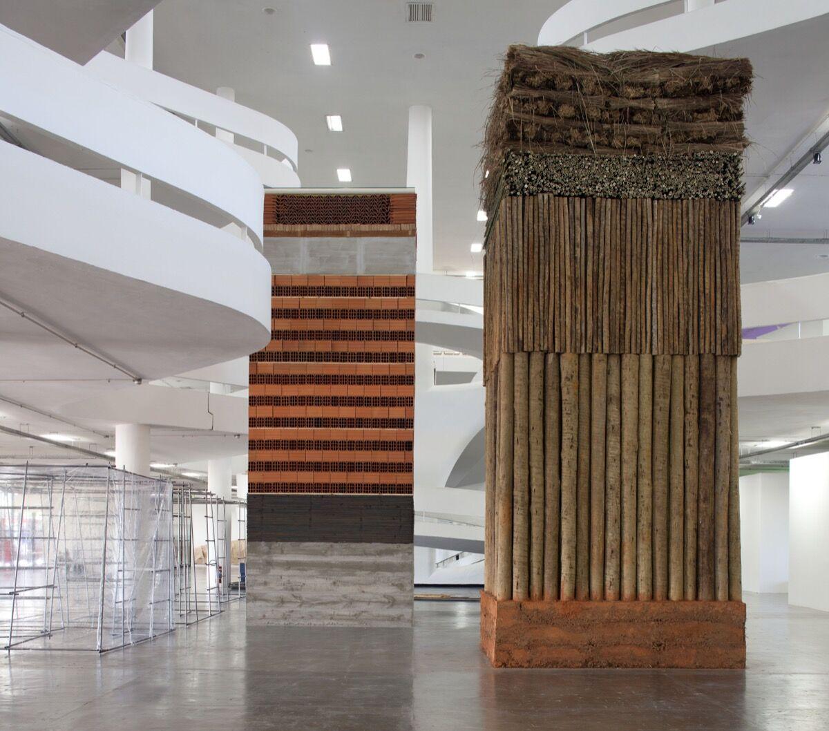 Installation view of Lais Myrrha, Doi pesos, duas medidas [Double Standard], 2016, at the 2016 Bienal de São Paulo. © Pedro Ivo Trasferetti /Fundação Bienal de São Paulo.