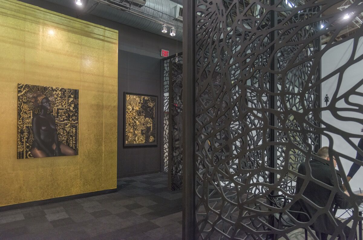 Installation view of Mariane Ibrahim's booth at The Armory Show, 2018. Photo by Adam Reich for Artsy.