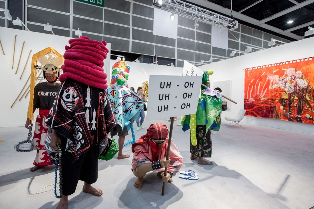 Installation view of Arario's booth at Art Basel in Hong Kong, 2017. Courtesy of Art Basel.