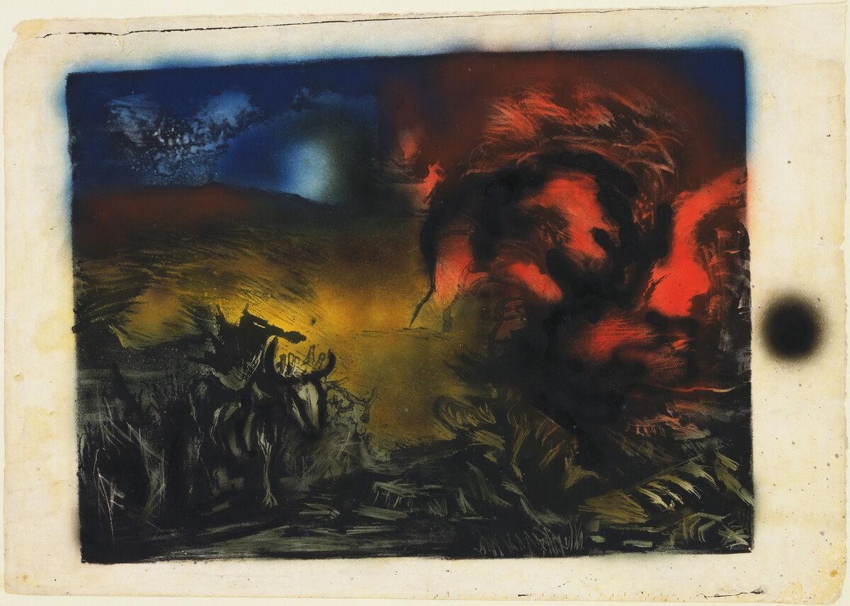 Jackson Pollock, Paysage avec Steer, c. 1936-37. © 2017 Fondation Pollock-Krasner / Société des droits des artistes (ARS), New York. Avec la permission du Museum of Modern Art, New York.