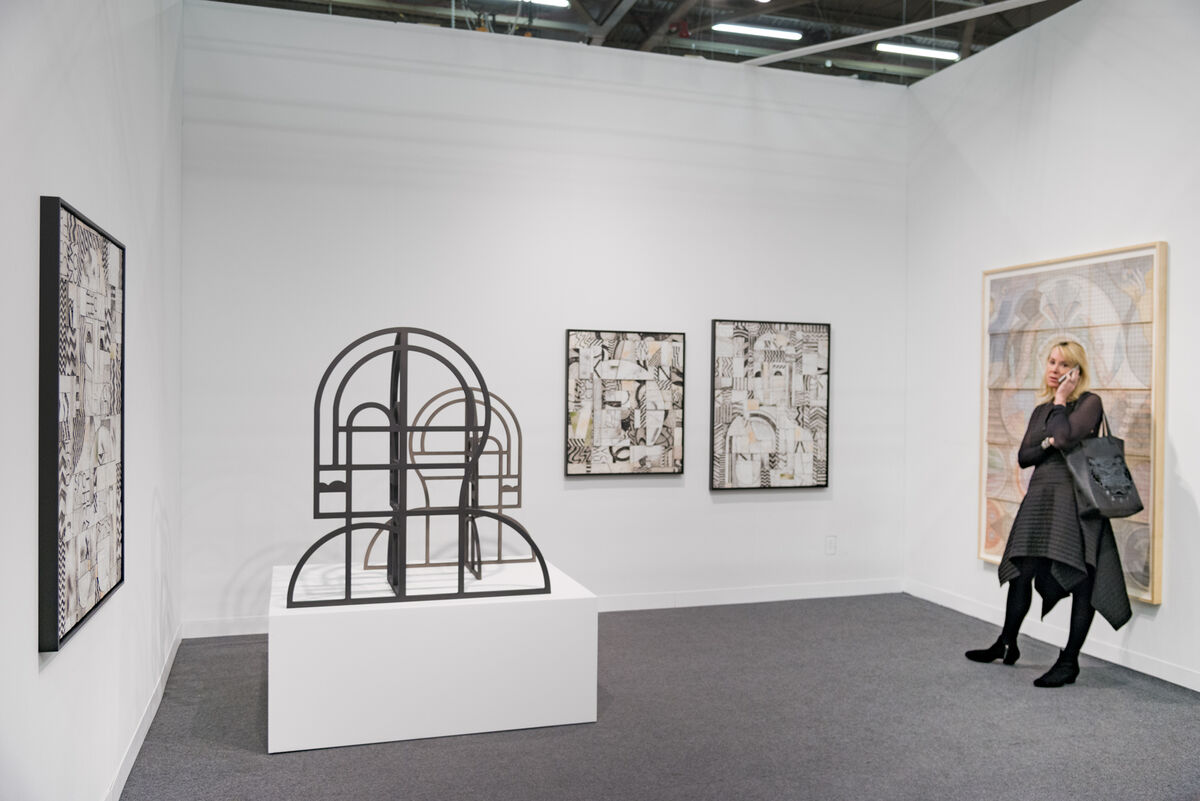 Installation view of Nicelle Beauchene Gallery's booth at The Armory Show, 2016. Photo by Adam Reich for Artsy.