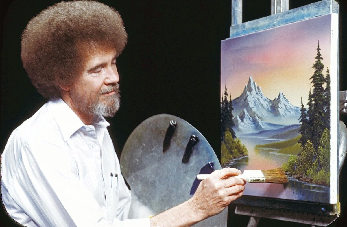 Portrait of Bob Ross. Courtesy of Bob Ross Inc.