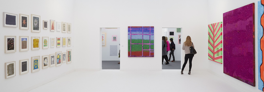 Installation view of Anton Kern's booth at Frieze London 2015. Photo by BenjaminWestoby for Artsy.