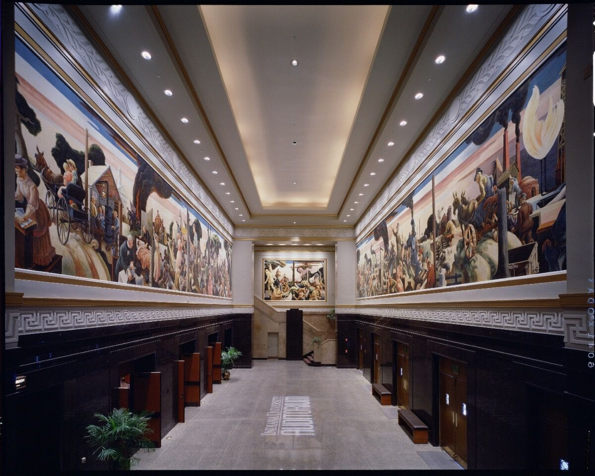Mural by Thomas Hart Benton. Courtesy of Indiana University.