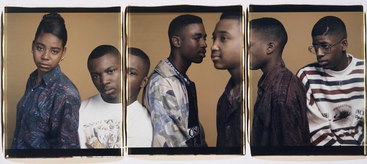 Dawoud Bey, Sharmine, Vincente, Joseph, Andre and Charlie, 1993. Courtesy of the Museum of Contemporary Photography, Columbia College Chicago.