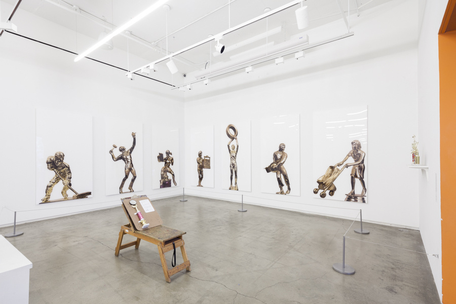 Installation view of artwork by Jean Shin in Game On!, Courtesy of Will Ellis and Children's Museum of the Arts