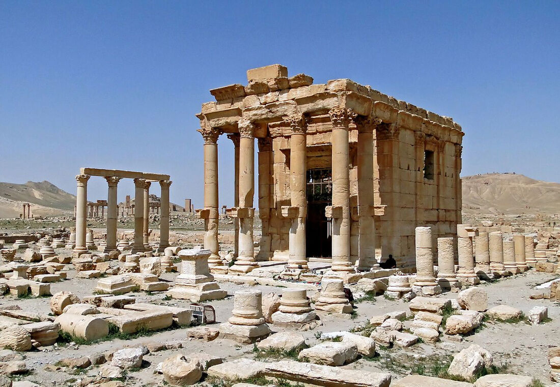 Temple of Baal-Shamin in Palmyra, Syria courtesy Bernard Gagnon via Creative Commons.