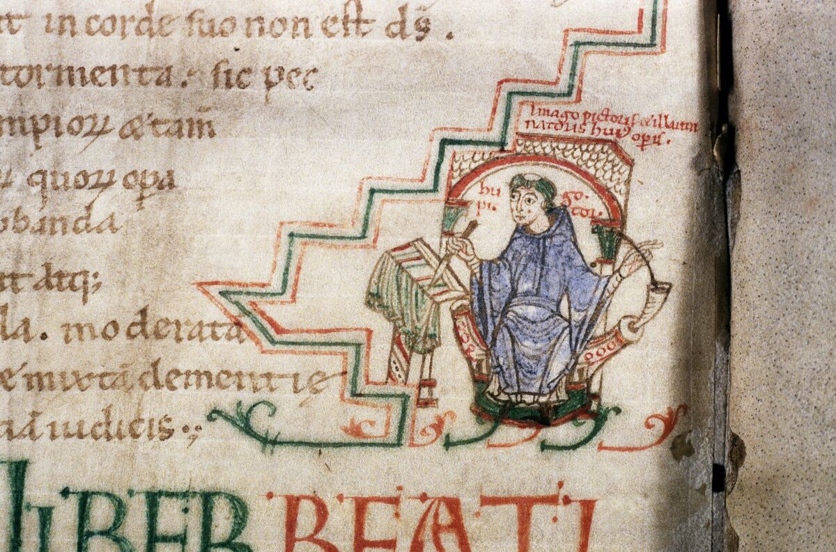 Detail of Jerome, Commentary on Isaiah, 11th century. Photo via ARTstor and the Bodleian Library at Oxford University.