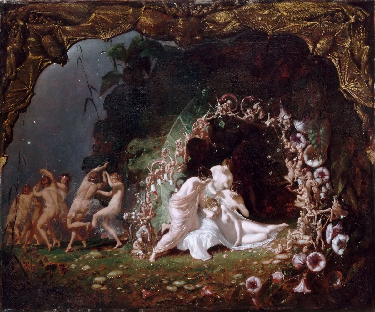 Richard Dadd, Titania Sleeping, 1841. Image via Wikimedia Commons.