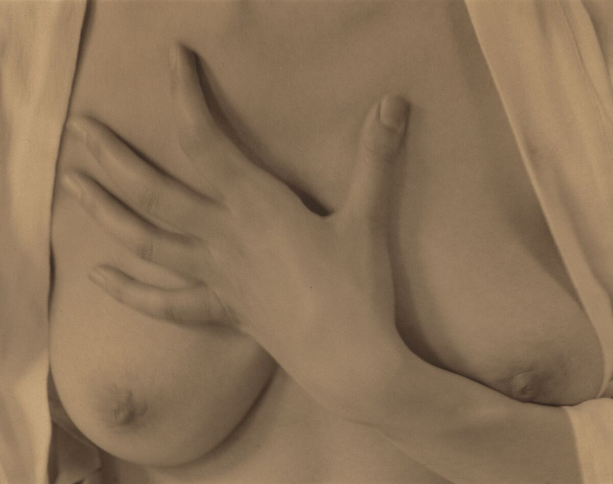 Alfred Stieglitz, Georgia O'Keeffe–Hand and Breasts,  1919. Courtesy of Alfred A. Knopf.