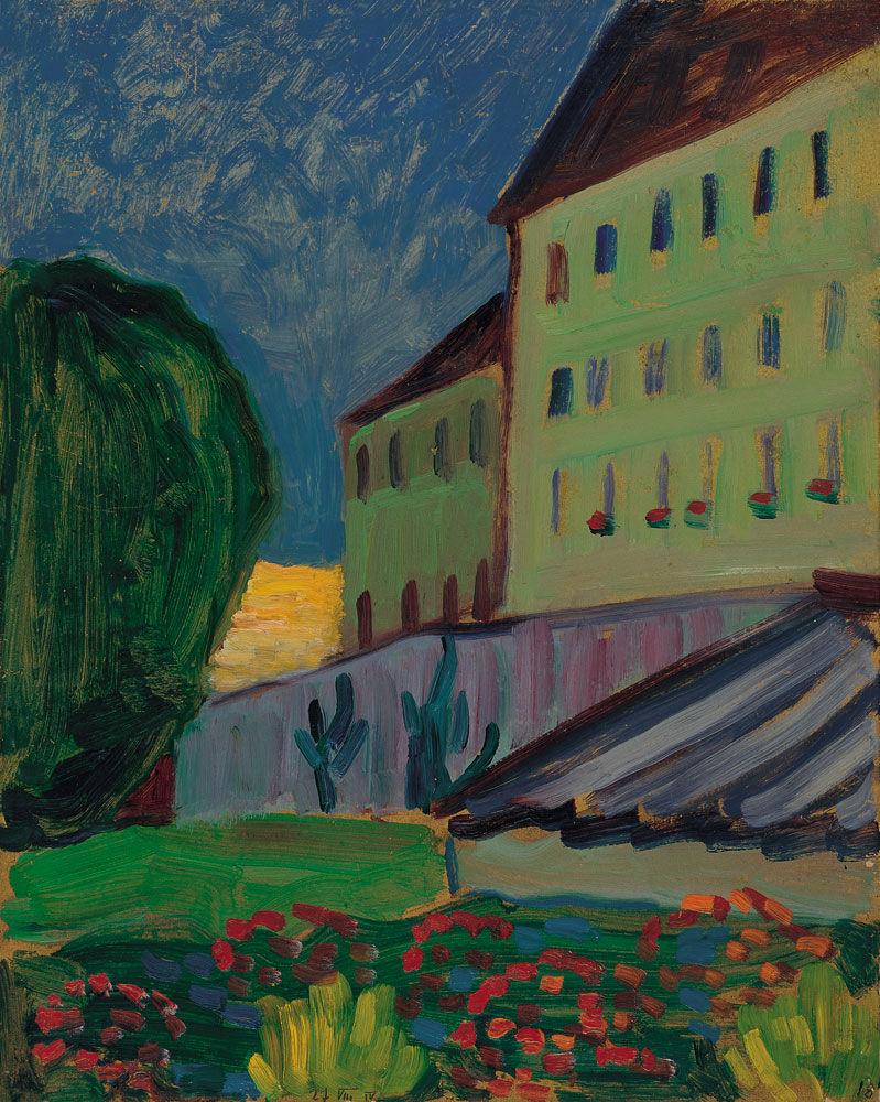 Gabriele Münter, School House, Murnau, 1908. © VEGAP, Madrid. Courtesy of Museo Nacional Thyssen-Bornemisza, Madrid