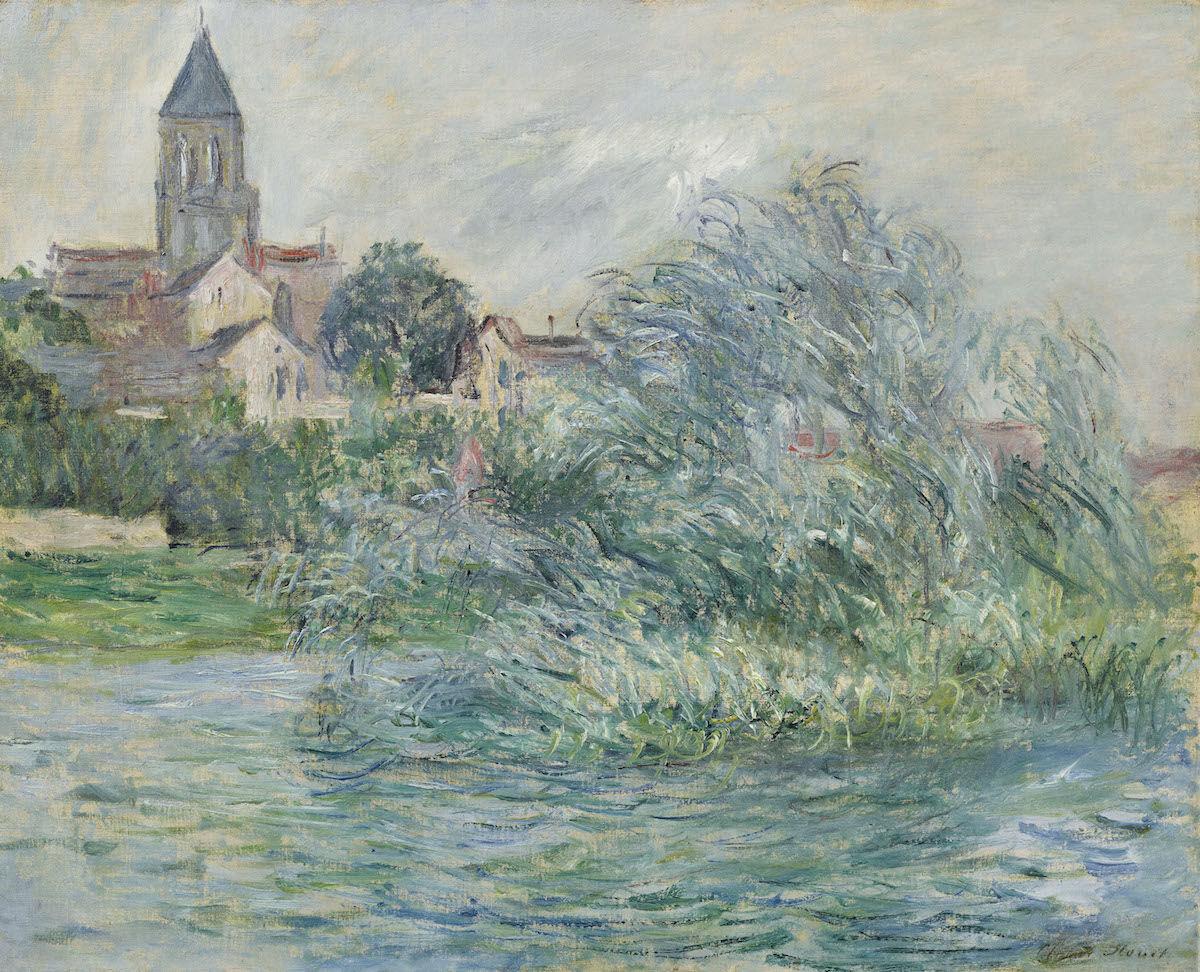 Claude Monet, L'église à Vétheuil, 1881. Sold for $3,132,500 at Christie's on November 11, 2018. Courtesy Christie's Images Ltd. 2018.