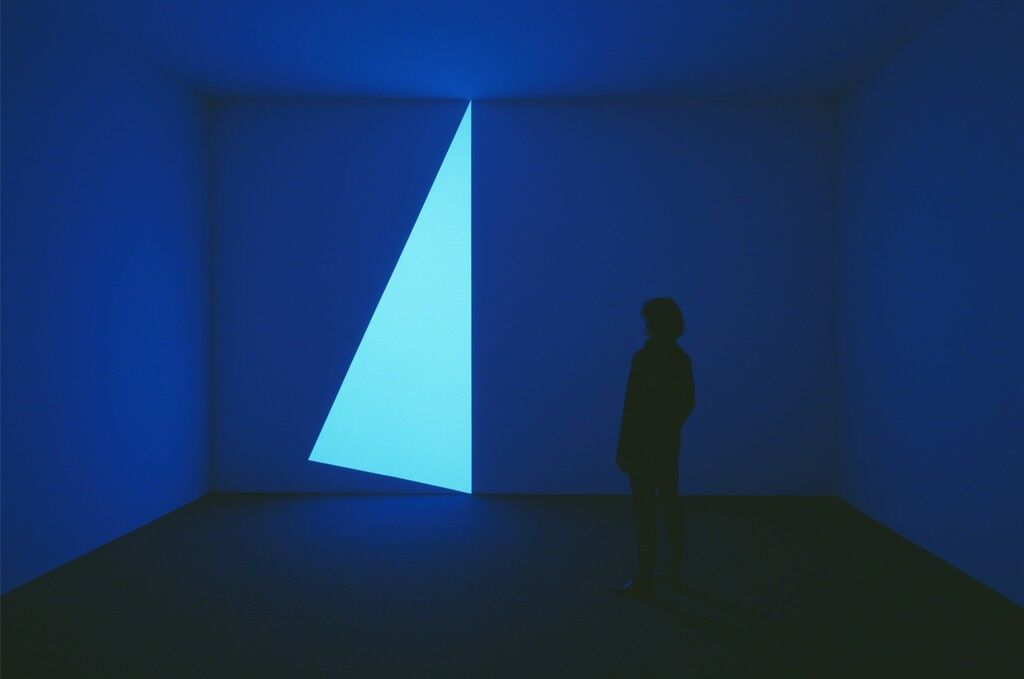 "Installation view of ""James Turrell: 67 68 69"" at Pace Gallery. Image courtesy of Pace Gallery."