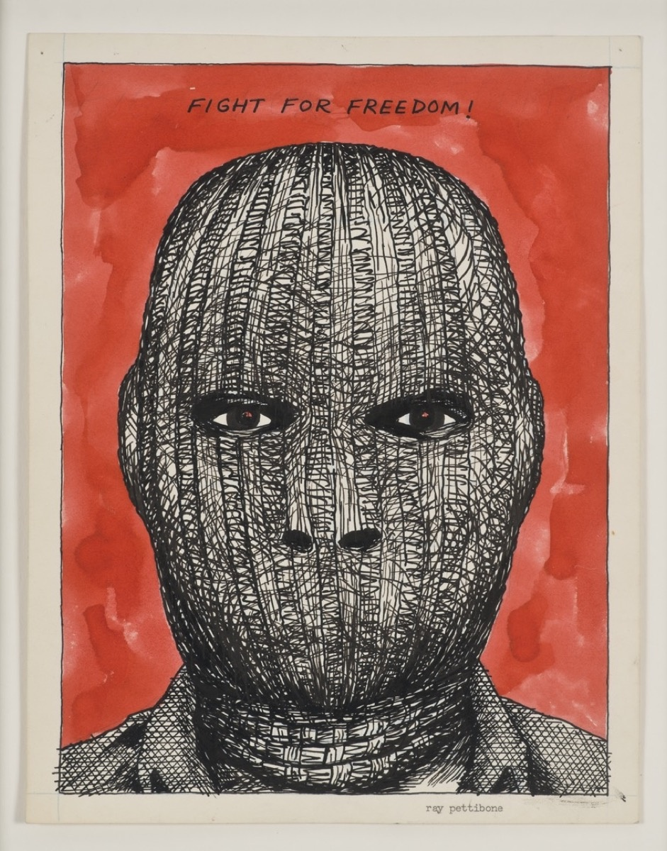 Raymond Pettibon,No Title (Fight for freedom!), 1981. Private Collection. Courtesy Regen Projects, Los Angeles.
