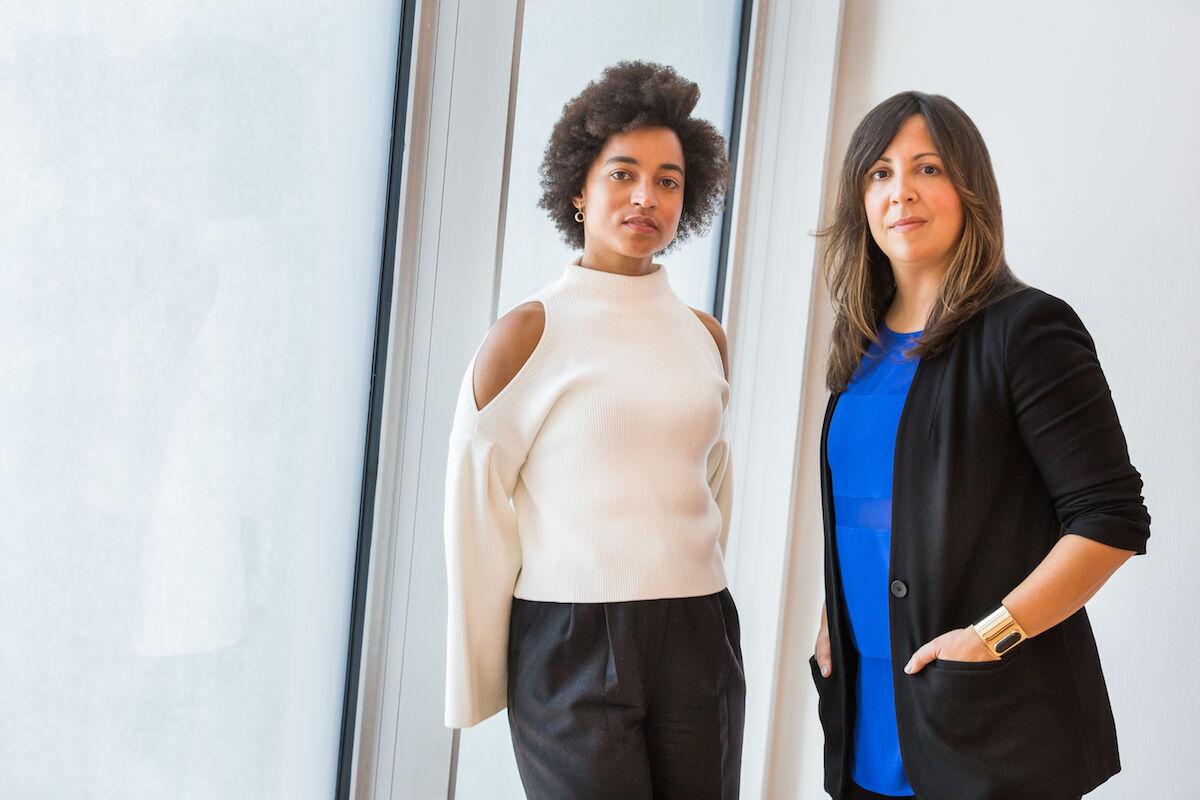 Co-curators of the 2019 Whitney Biennial Rujeko Hockley (left) and Jane Panetta (right). Photog by Scott Rudd.