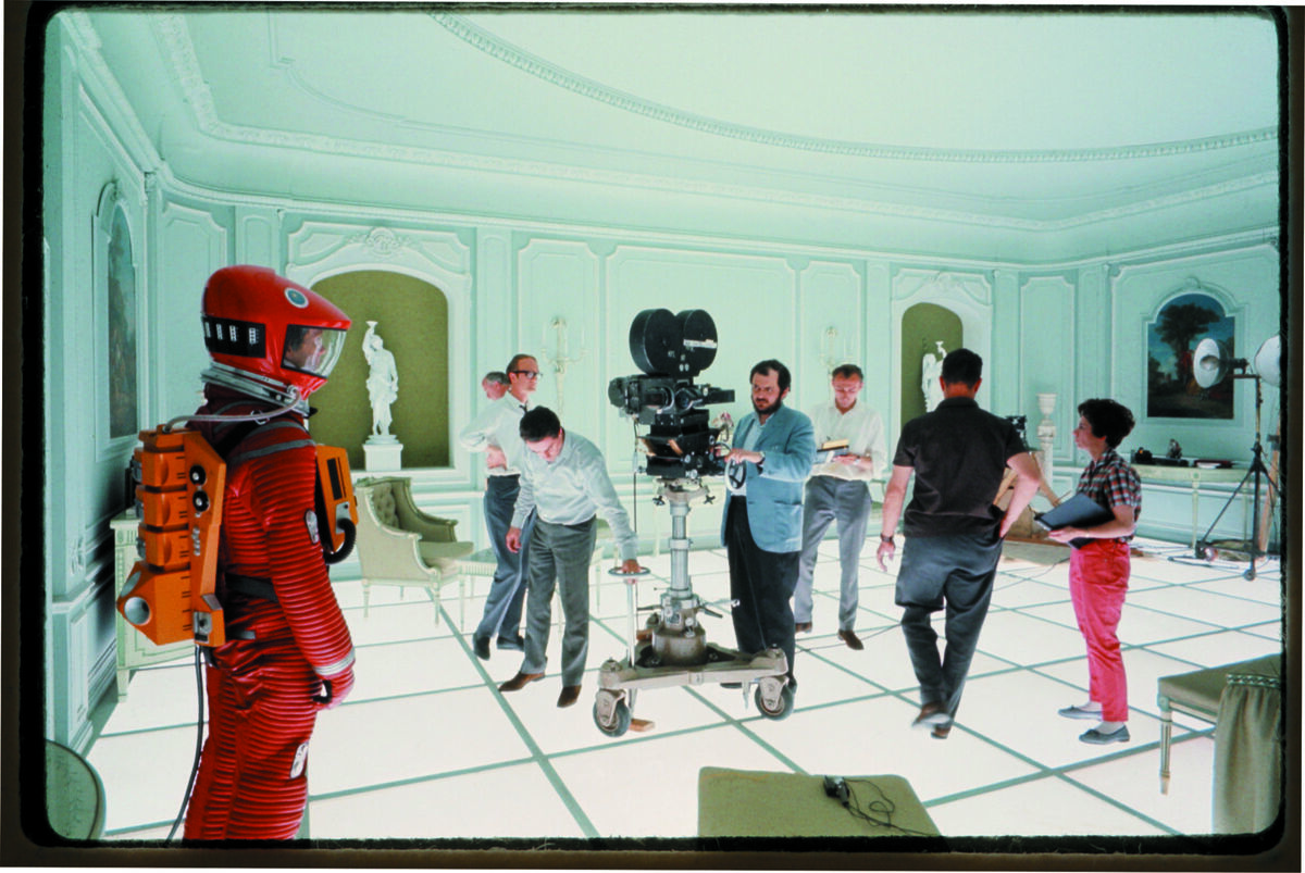 Stanley Kubrick on the set of 2001: A Space Odyssey, ca. 1968. Courtesy of London's Design Museum.