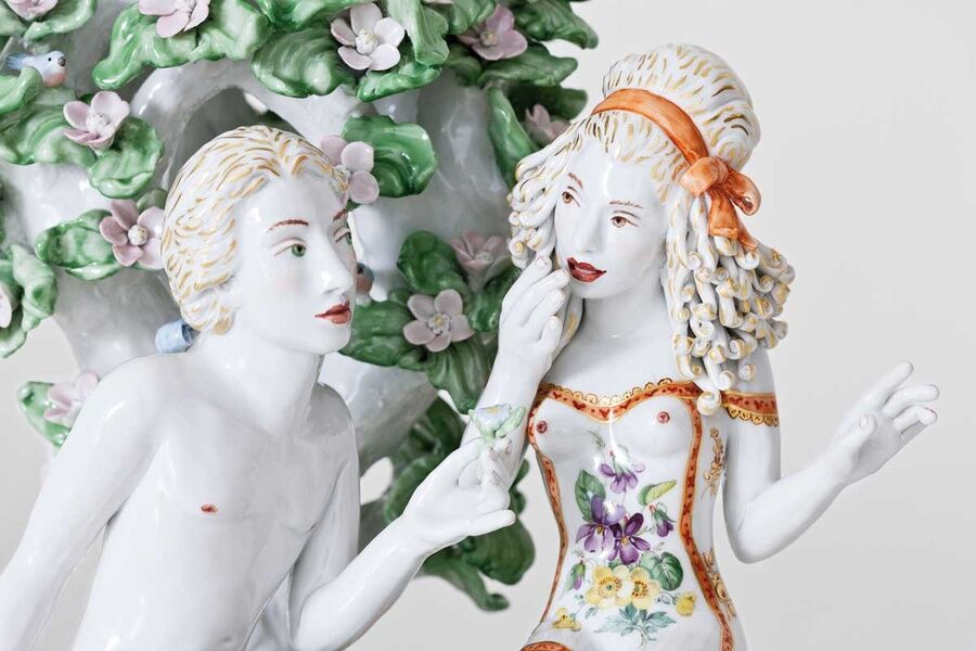 Chris Antemann, Pursuit of Love, detail, 2013. Courtesy of MEISSEN artCAMPUS.