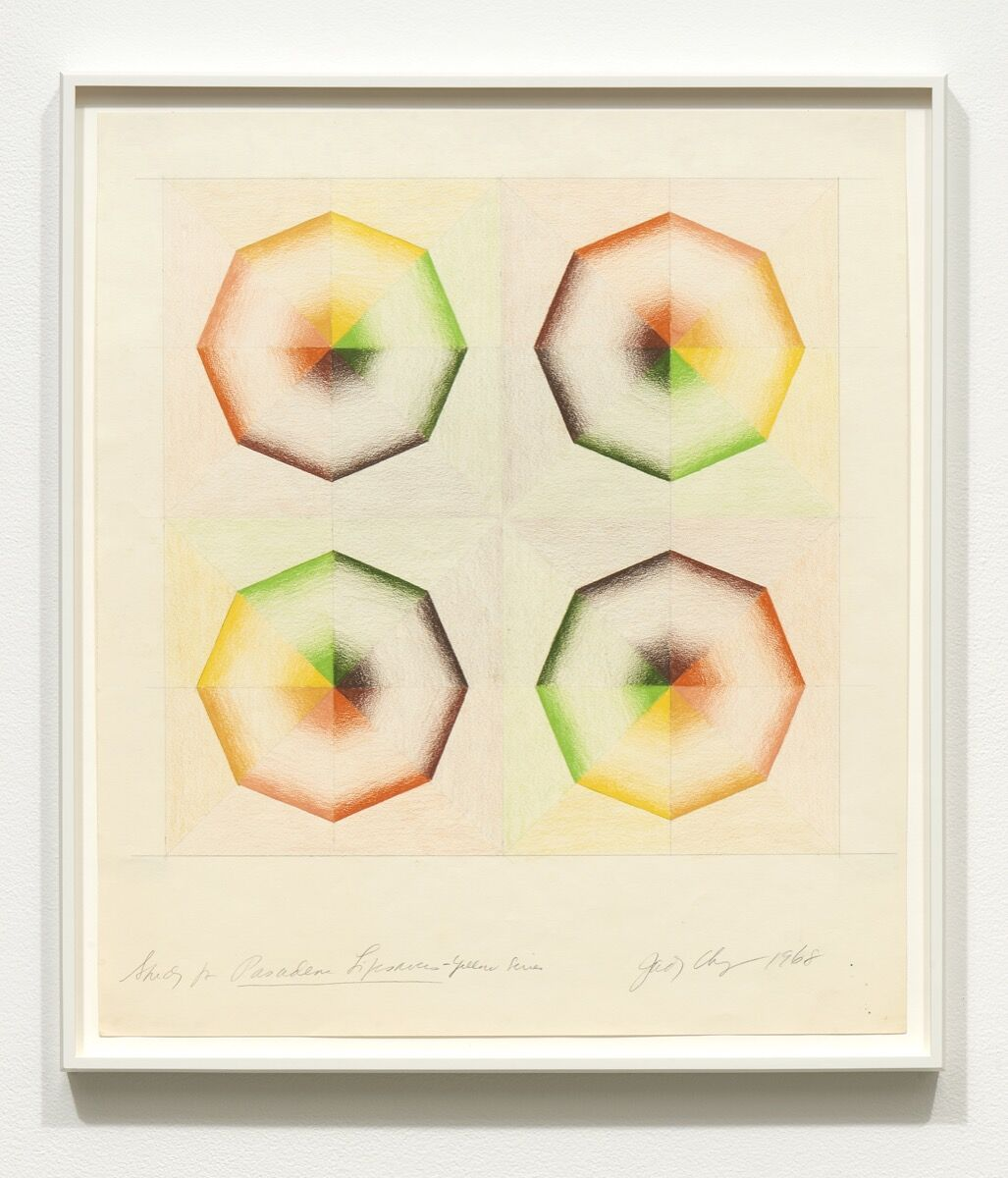 Judy Chicago, Study for Pasadena Lifesavers Yellow series, 1968. Courtesy of Jessica Silverman Gallery.