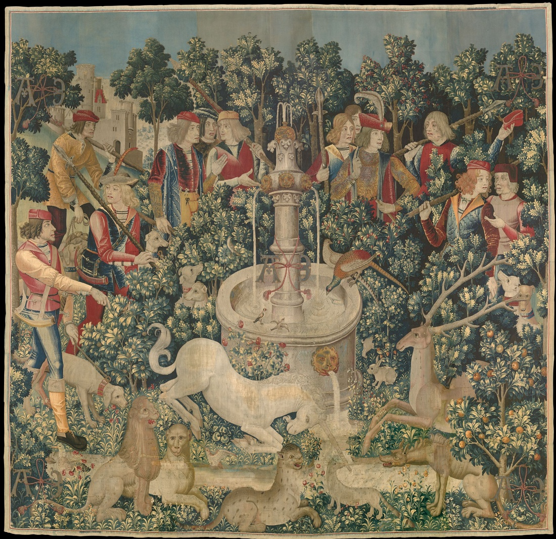 The Unicorn is Found (from the Unicorn Tapestries), 1495 – 1505. Gift of John D. Rockefeller Jr., 1937. Image courtesy of the Metropolitan Museum of Art.