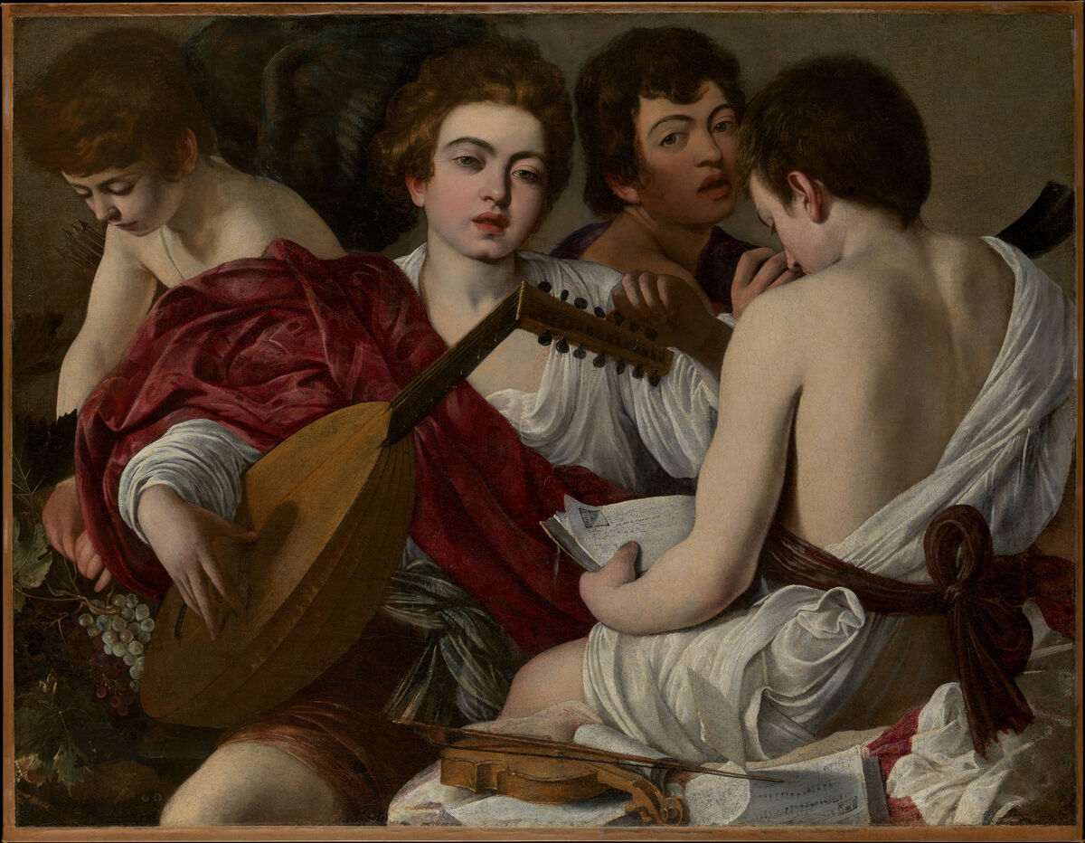 Caravaggio, The Musicians, 1597. Courtesy of the Metropolitan Museum of Art.