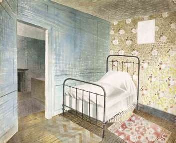 EricRavilious, TheBedstead, 1939. Towner Collection.