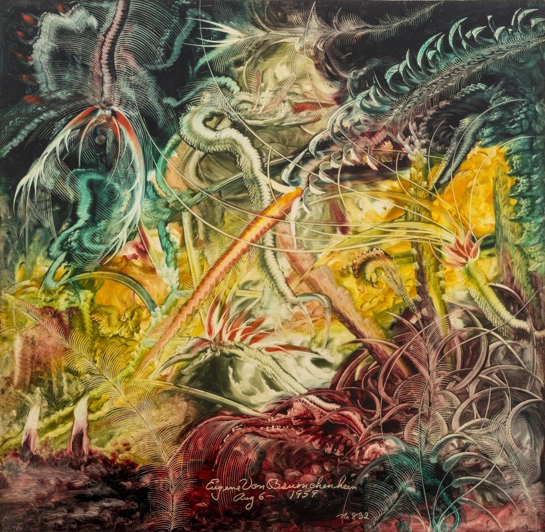 Eugene von Bruenchenhein, Untitled (n. 832), 1959. Courtesy of Andrew Edlin Gallery.