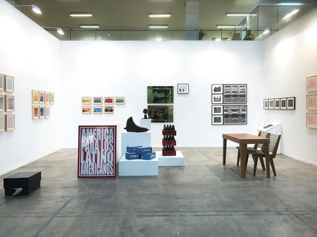 Installation view of Henrique Faria Fine Art's booth atZⓢONAMACO, 2017. Photo courtesy ofHenrique Faria Fine Art.