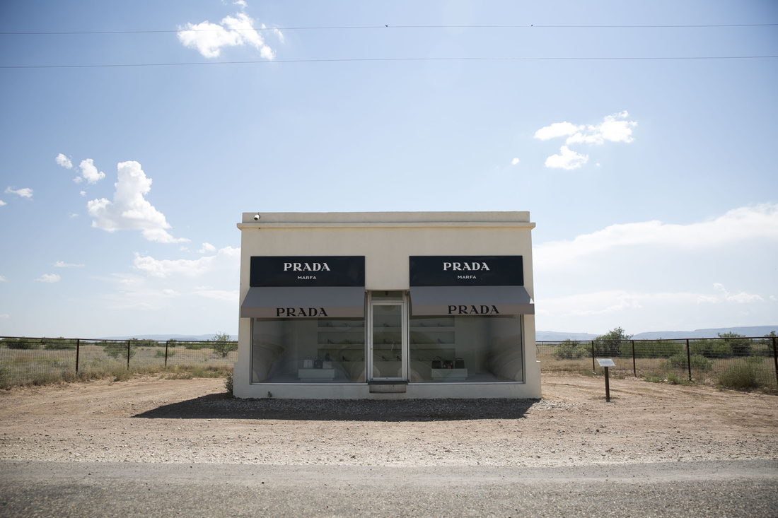 Elmgreen & Dragset, Prada Marfa, 2005. Photo by Em Watson.