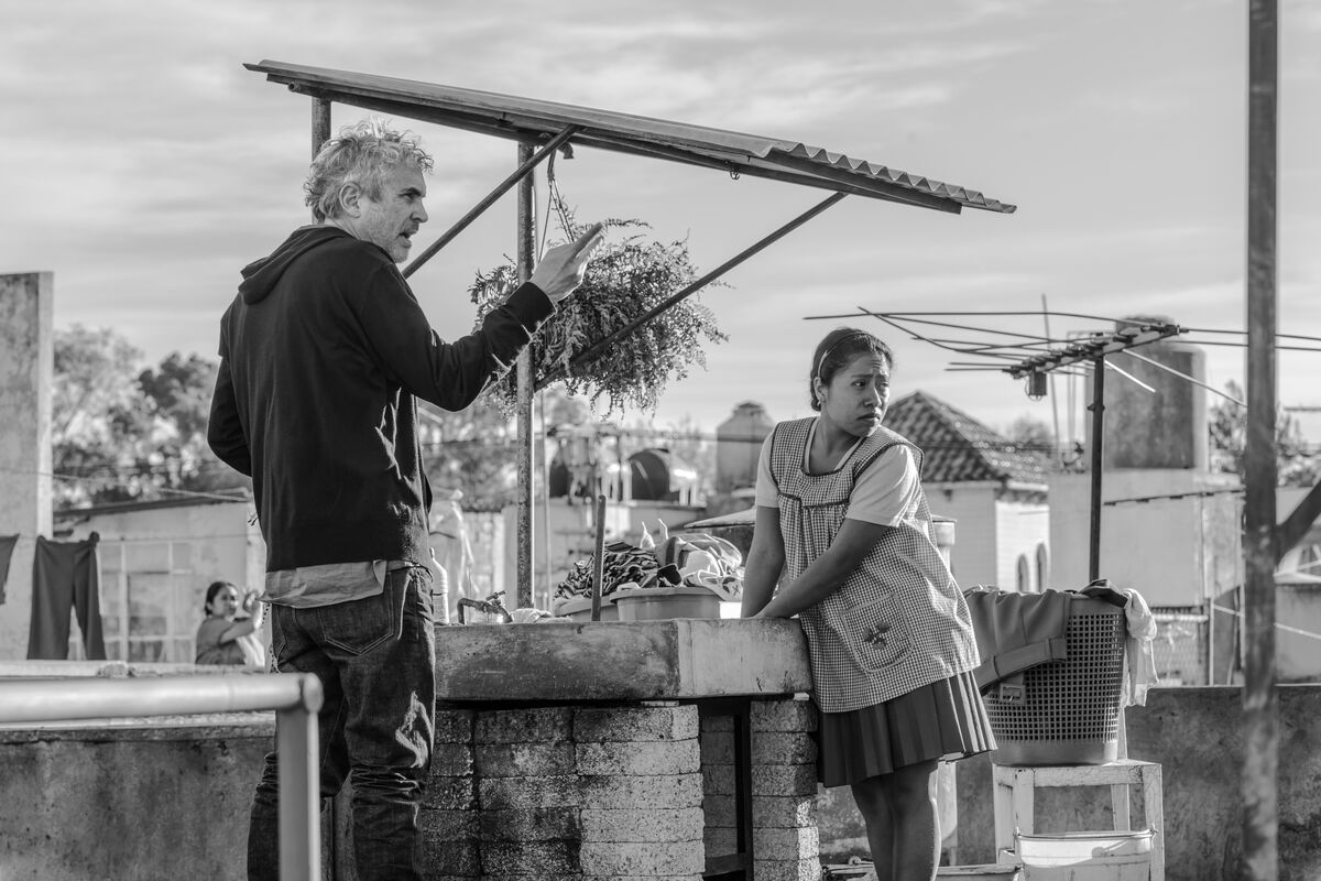 Image from the set of Roma,  2018. Courtesy of Netflix.